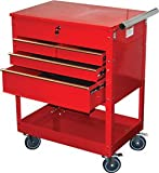 ATD 7045 Red 4 Drawer Service Cart