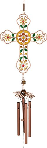 - AngelStar Canary Mosaic Cross Wind Chime Multicolor