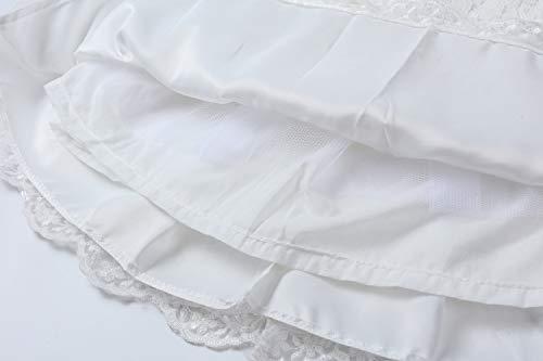 LZH Vestito da Ragazza per Bambina Abito da Battesimo da Principessa per Matrimoni Sposa Compleanno 6