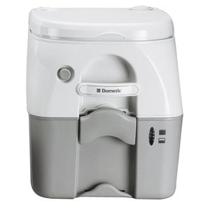 DOMETIC 975 PORTABLE TOILET 5.0 GAL GRAY W/ BRACKETS boating equipment Dometic 975 Portable Toilet