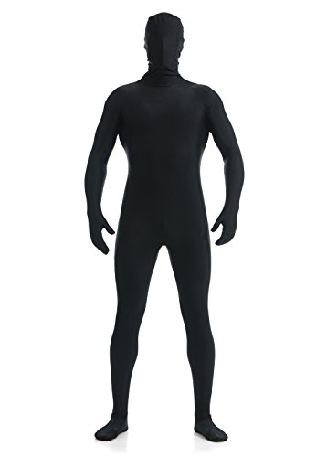 Spandex Costumes Bodysuit (OVIMO Full BodySuit Lycra Spandex Suit for Men & Women Black L)