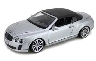 2012 2013 Bentley Continental Supersports Soft Top Silver 1/18 by BBurago 11037 B00AFWH2TU