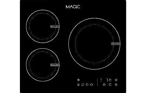 MAGIIC – Table de cuisson à Induction 3 Foyers Magiic Touch – Nombreuses fonctions – 2 Boosters – 6400 W – Un produit conçu à Chartres
