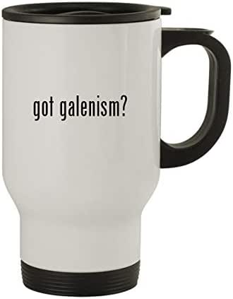 got galenism? - Stainless Steel 14oz Travel Mug, White