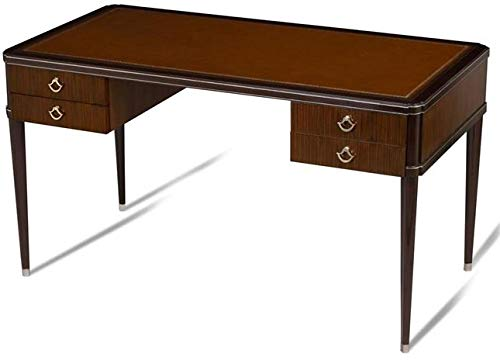 Scarborough House Writing Desk Rosewood Silver Tooled Saddle Leather Top Nickel