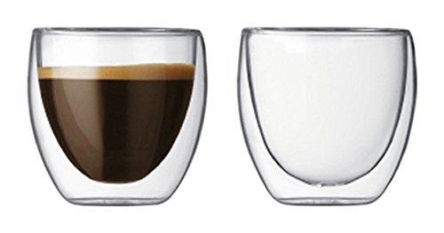 Teaology Coppia Double Wall Borosilicate Glass Tea/Coffee Cup - Set of 2 8oz Glasses