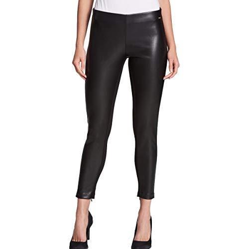 - DKNY Womens Faux Leather Elastic Skinny Pants Black XS