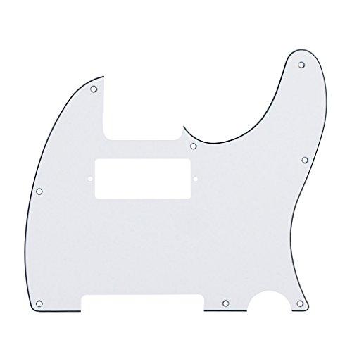 IKN 3Ply White 8 Hole Tele Humbucker Pickguard with Screws Fit USA/Mexican Fender Telecaster Humbucker Pickguard ()