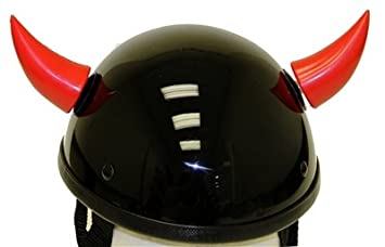 Red Stick on Motorcycle Helmet Horns (2 horns included)