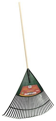 Ames True Temper Greensweeper Poly Rake With 48-Inch Wood Handle 1920000