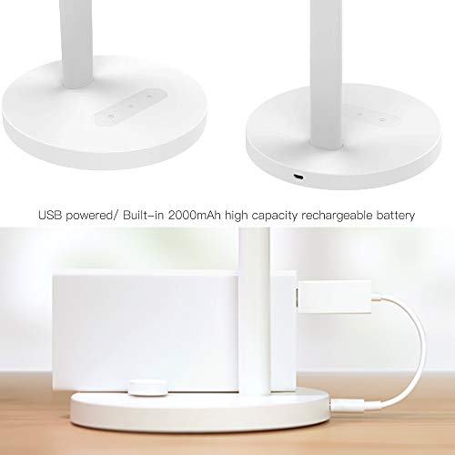 Lixada1 LED Desk Lamp Light Seneitive Touch Control 5 Levels Brightness Adjustable Dimmable 5 LevelsColor Temperature Changing USB Powered with Built-in 2000mAh High Capacity Rechargeable Battery by Lixada1 (Image #8)