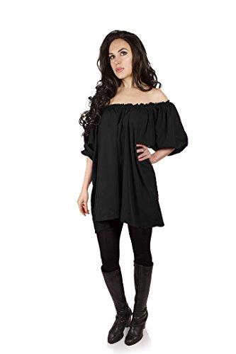 Isold (Black Renaissance Dress)