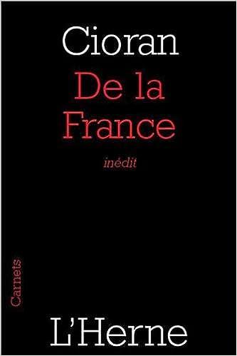 Cioran - De la France