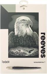 Bulk Buy: Reeves Scraperfoil Kit 8''X10-Bald Eagle (3-Pack)