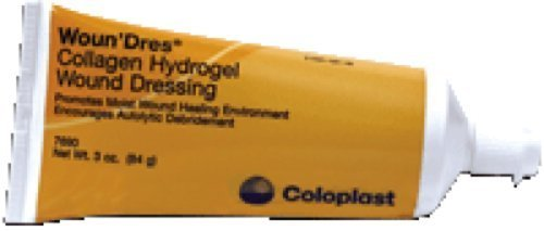 Coloplast Woun'dres Collagen Hydrogel Dressing 3Oz Latex-free Clear, Amorphous (1 Tube)