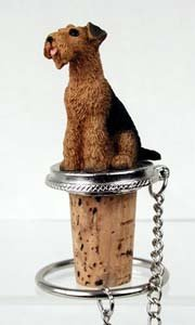 Airedale Terrier Bottle Stopper by Conversation Concepts