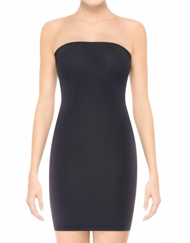 ASSETS Red Hot Label by SPANX Sleek Slimmers Medium Control Slip, XL, Black - Little Black Convertible Dress