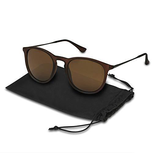db1a67b4786 Amazon.com  Maanic Vintage Round Polarized Sunglasses for Women ...