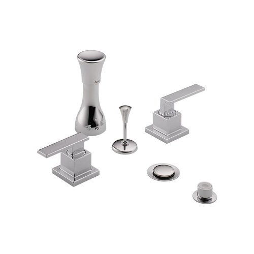 Delta Delta KBDVE-D-44H253-CH Classic Bidet Fitting Kit Deck-Mounted Vertical Spray with Vero Metal Lever Handles, Chrome ()