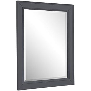 Amazon Com Napa 28 Inch Bathroom Wall Mirror Charcoal