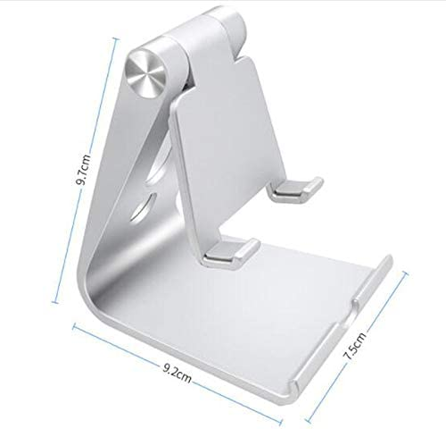 Compatible for All Cell Phones and Tablets Home,Office,Gym,Cafe,Learning BLRYP Mobile Phone Holder Adjustable Phone Stand Holder Foldable Pocket Desktop Aluminum Smartphone Dock Entertainment