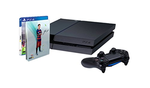 PlayStation 4 – Consola 1TB [CUH-1216B] + FIFA 16 con Steelbook (solo en Amazon)