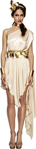Ladies Toga Costumes (Smiffy's Women's Fever Goddess Costume, Dress, Belt, Arm cuffs, Choker and Headpiece, Legends, Fever, Size 6-8, 20561)