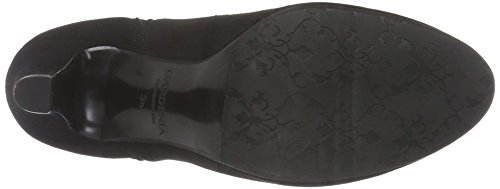 GARDENIA COPENHAGEN Short Boot W/ Heel & Elastic, Botines para Mujer Negro (Black 10)