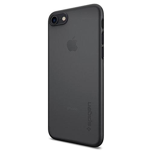 iPhone 7 Hülle, Spigen® [Air Skin] UltraSlim [Schwarz] Dünn Federleicht FeinMatt Handyhülle / Lichtdurchlässig Semi-Transparent Maßgeschneiderte Form & Perfekter Sitz Hardcase / Passgenau Premium Schutzhülle für iPhone 7 Case, iPhone 7 Cover - Black (042CS20869)