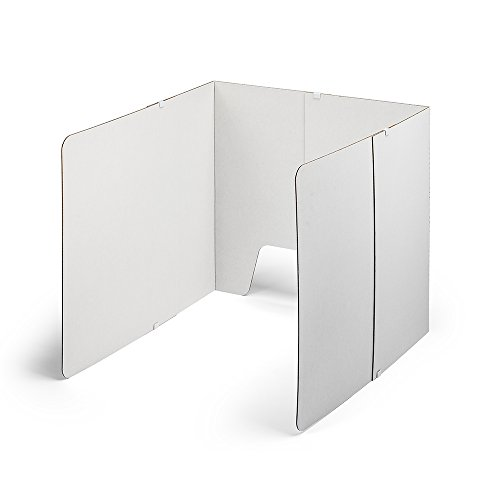 Classroom Products Computer Privacy Shield 23 Inch Tall Adjustable - White - (Pack of 10)