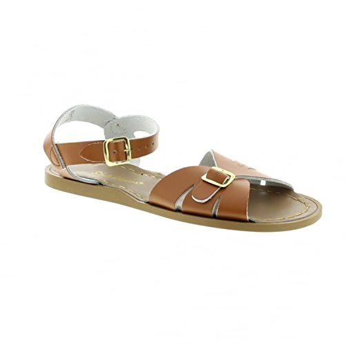 Saltwater By Hoy Women's Classic Flat Sandal, Tan, 9 M US (Salt Water Sandal For Women compare prices)