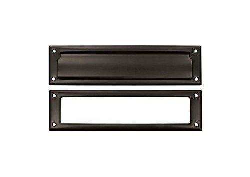 Deltana MS211U5 13 1/8-Inch Mail Slot with Solid Brass Interior Frame ()