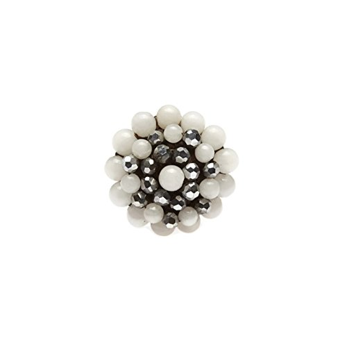 white-round-stone-beads-ring-with-stone-bead-crystal-bead-wax-cotton-string-ring