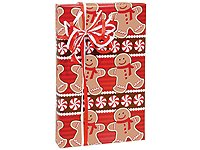 Holiday Sweets Gingerbread Man Wrapping Paper - 15 Foot Roll (Christmas Wrap Gift Stripe)