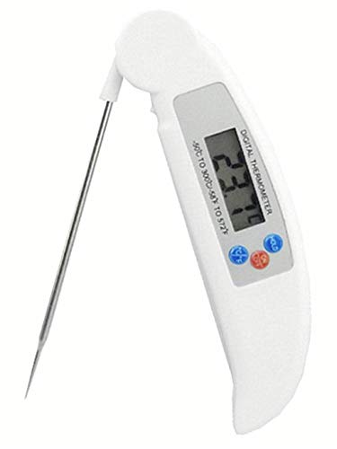 Orcbee  _Digital Instant Read Thermometer Food Folding Probe for BBQ Kitchen Cooking Meat - Camp X-timer Knife