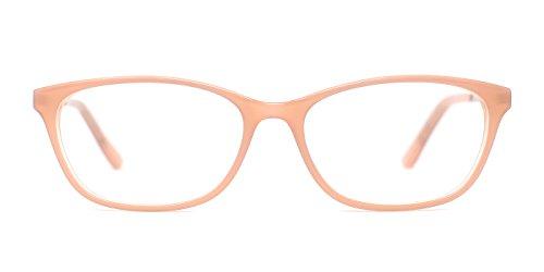 TIJN Women Acetate Subtle Cat Eye Thin Non-prescription Eyeglasses Clear Lens