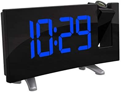 TiooDre Proyector Digital Radio Reloj Despertador Posponer ...