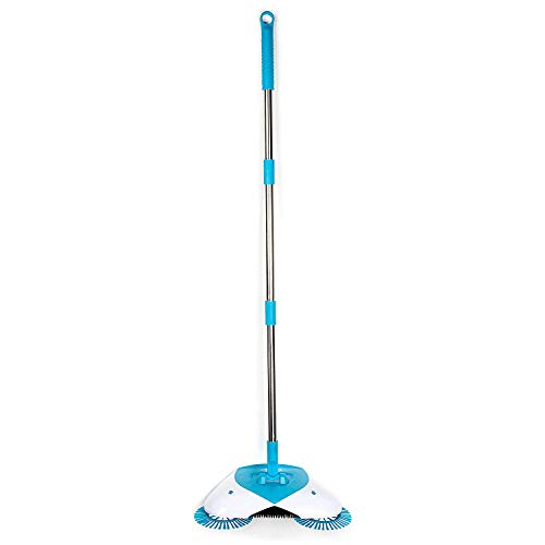 Starimac Sweeping Machine, Unique Home Cleaning Spin Broom - As Seen on TV- Original Lightweight. Cordless Spinning Broom for Sweeping Hard Surfaces Like Wood, Tile, and - Hurricane Seen As Tv Mop On