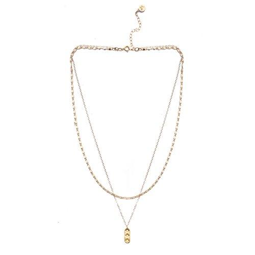 Mod Star - Mod + Jo Star Drop Pendant Necklace-18k Gold Plated Layered Necklace
