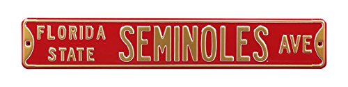FSU Seminoles Heavy Duty Street Sign by Gulf Coast Cards & Sports Memorabilia