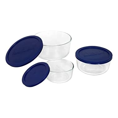 Pyrex Simply Store 6-Piece Round Glass Food Storage Set