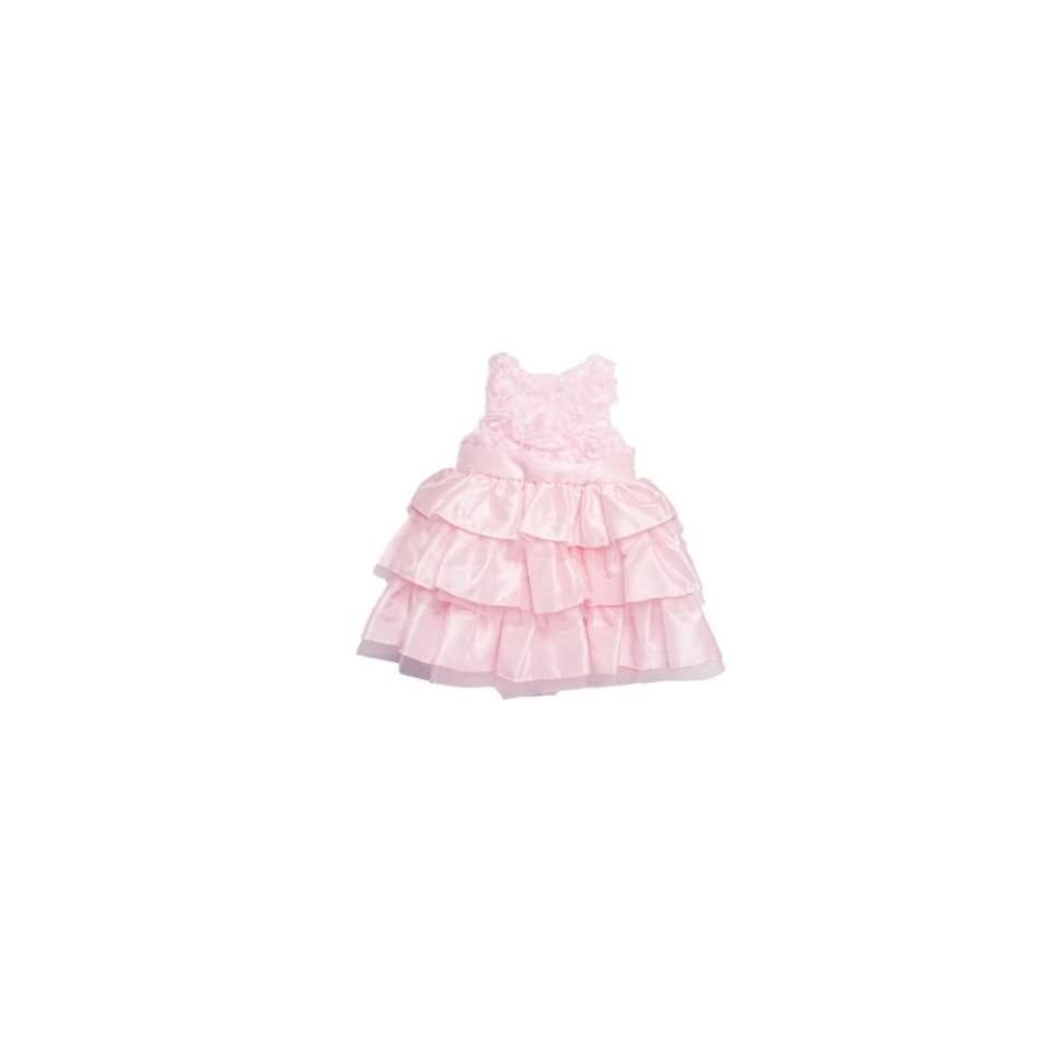 Mud Pie Baby Girl Pink Silk Dress Clothing