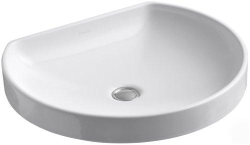 KOHLER K-2332-0 WaterCove Wading Pool Bathroom Sink, White