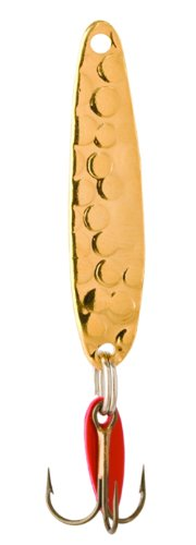 Bay De Noc 2AG 1-Inch Swedish Pimple Jig, 1/10-Ounce, Hamm Gold