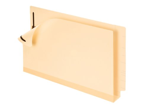 Pendaflex Double Stuff Laminated End Tab Folders, Legal, Manila, Box of 50 (13166)