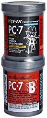 PC Products 167779 PC-7 Two-Part Heavy Duty Multipurpose Epoxy Adhesive Paste, 1 lb in Two Cans, Charcoal Gray