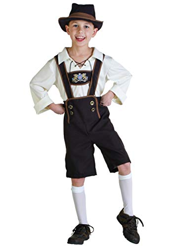 Boys German Lederhosen Costume Medium (8-10)