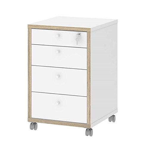 Tvilum Hamilton 4 Drawer Mobile Filing Cabinet