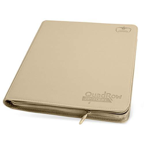 Sand Ultimate Guard XenoSkin Quadrow Zipfolio 12 Pocket Card Storage Binder Portfolio by Ultimate Guard (Image #1)