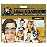 Paladone Gentlemans Club Face Drink Coasters – 20 Hilarious Double Sided Drink Coasters (40 Fun Faces)